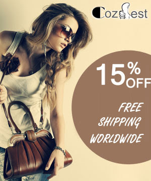 15% off Free shipping worldwide,no minimum required