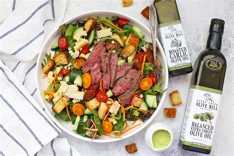 Steak Salad with Avocado Green Goddess Dressing ? One