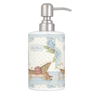 "Delicate Vintage French ""Le Bain"" Bathroom Decor Soap Dispenser"
