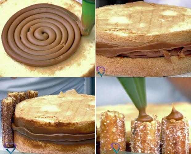 Aprenda a fazer o delicioso Bolo de Churros  (Foto: TV Globo)