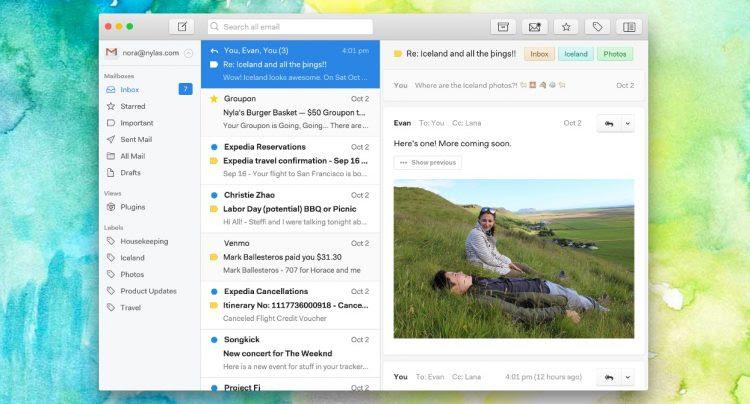 nylas n1 email app