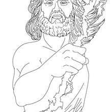 Dibujos Para Colorear Dios Zeus Rey De Los Dioses Olimpicos Es