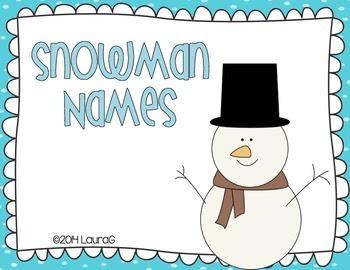 Snowman Names