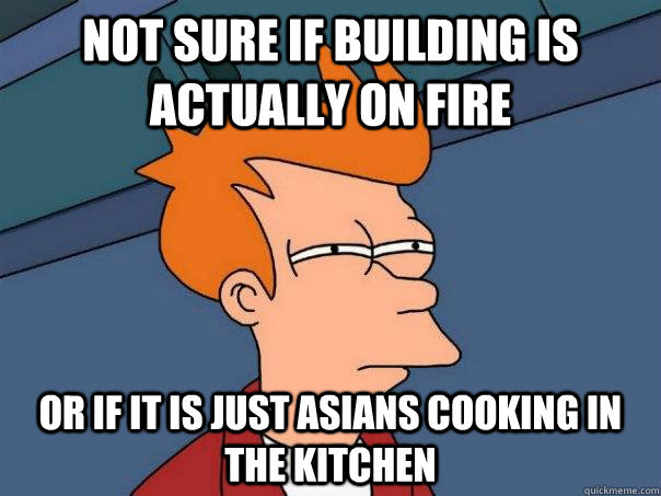 Not Sure If Building Is Actually On Fire Or If It Is Just