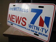 70's era WITN license plate