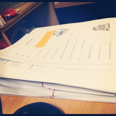 Stacks of paper for the student = more markings for me too. :/  (Taken with Instagram)