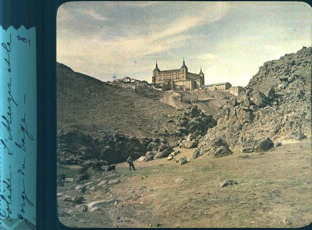 Toledo hacia 1915. Paraje del Arroyo de la Degollada. Autocromo anónimo francés