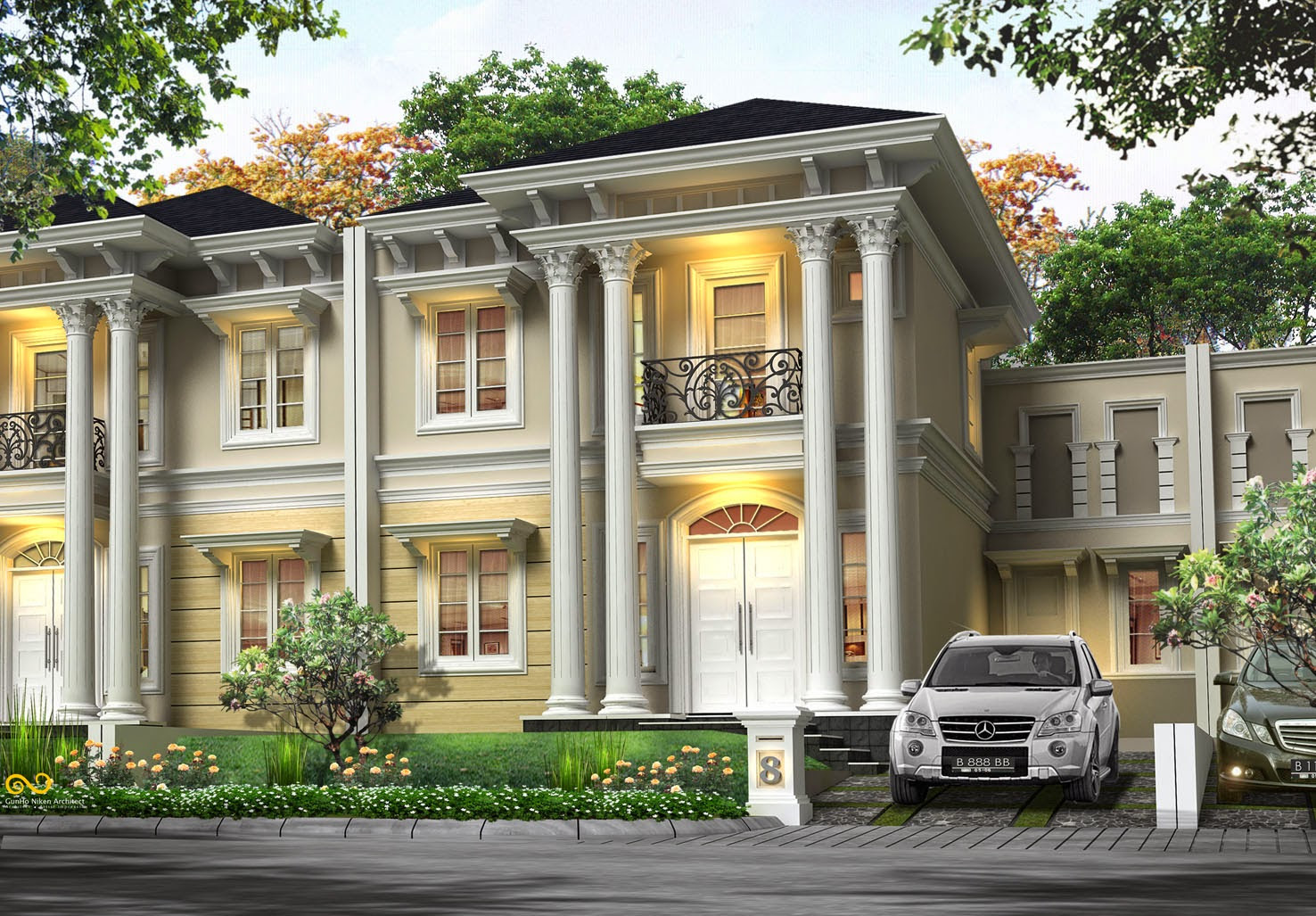 88 Desain Rumah Minimalis Eropa Klasik HD Terbaik