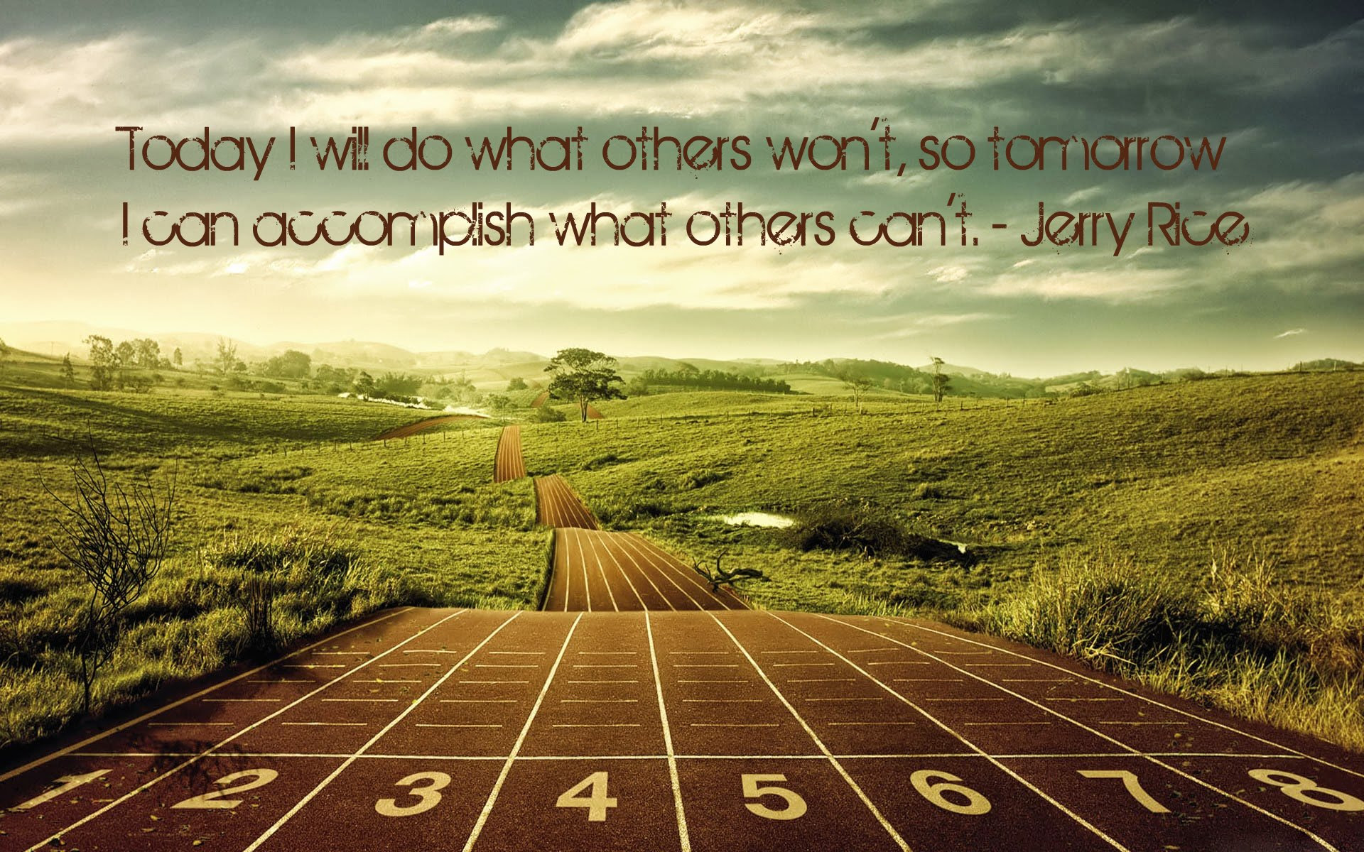 Today I Will Do What Others Wont Jerry Rice 1920x1200 Quotesporn