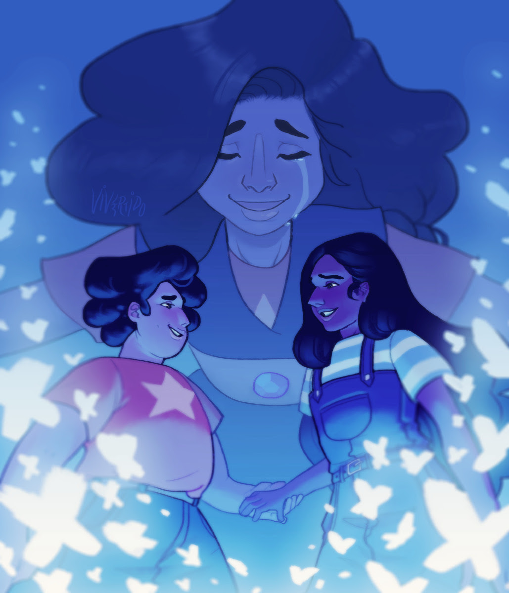 """""""""""Here comes a thought That might alarm me What someone said And how it harmed me…"""" """" Garnet version / Stevonnie version"""