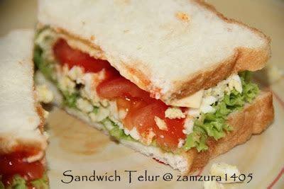 insan biasa sandwich telur rebus