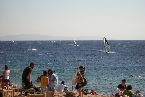 and some windsurfers