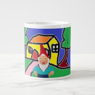 Gnome at Home Mug Extra Large Mug