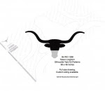 Texas Longhorn Silhouettes Yard Art Woodworking Pattern - fee plans from WoodworkersWorkshop® Online Store - longhorn,Texas,steer,bulls,cowboys,western,rodeos,bronc riding,yard art,painting wood crafts,scrollsawing patterns,drawings,plywood,plywoodworking plans,woodworkers projects,workshop blueprints