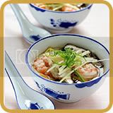 Steamed Egg with Prawns, Mushrooms & Dried Scallops