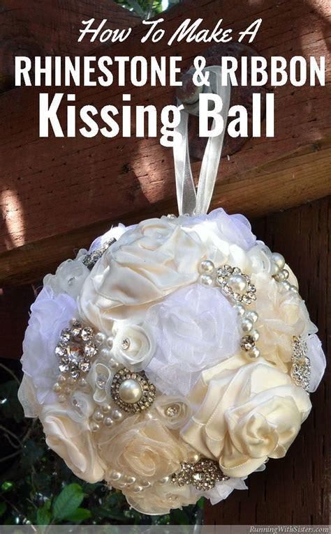 Rhinestone & Ribbon Kissing Ball   Weddings, Craft and Wedding