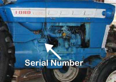 Vintage Tractor Engineer Ford 2000 3000 4000 5000 Serial Numbers