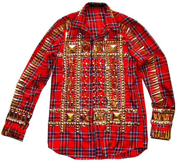 Givenchy stud tartan shirt by Ricardo Tisci