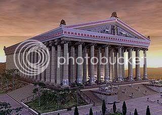 Ο ναός της Αρτέμιδος στην Έφεσο (αναπαράσταση)