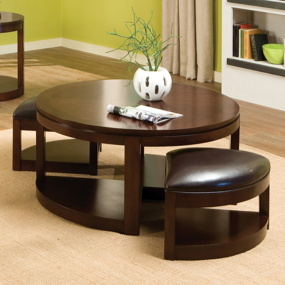 The Round Coffee Tables with Storage - the Simple and ...