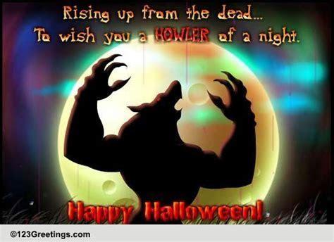 Werewolf Halloween Howler! Free Happy Halloween eCards