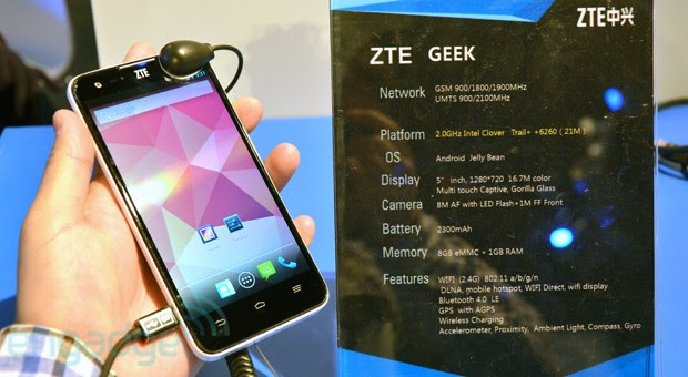 ZTE Geek makes a quiet