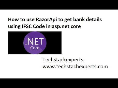 Complete Example of Razorpay Api to get bank detail by IFSC code using dotnet core