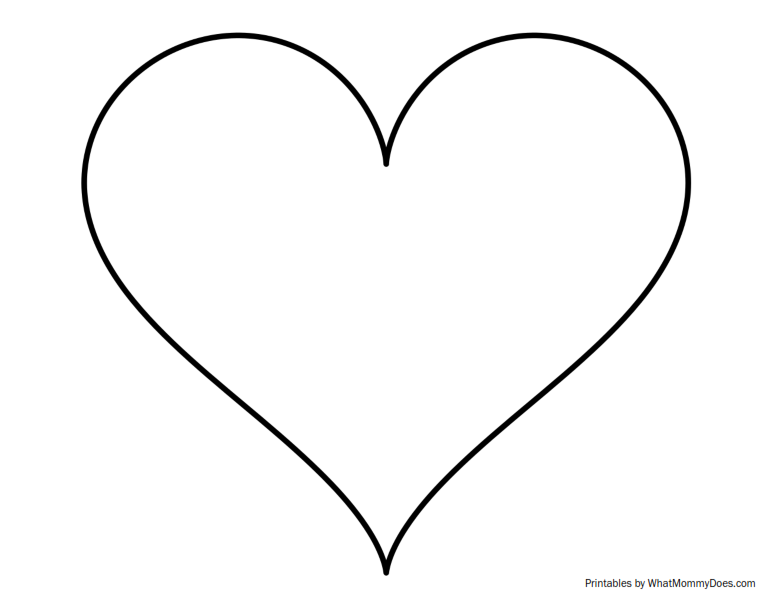 Super Sized Heart Outline - Extra Large Printable Template
