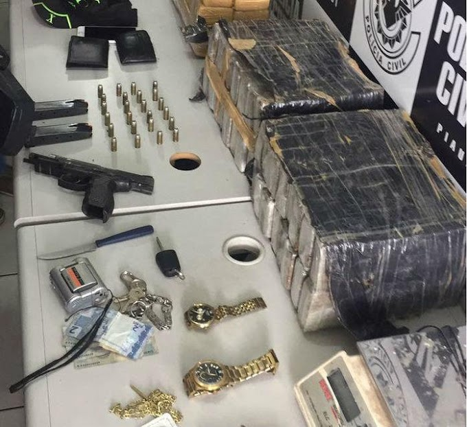 Sargento da PM é preso com 64 tabletes de maconha em Teresina