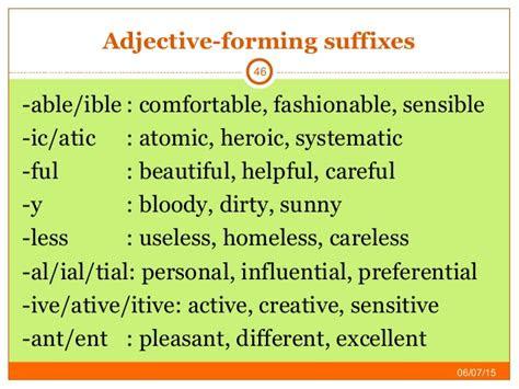 pengertian  contoh kalimat forming adjectives
