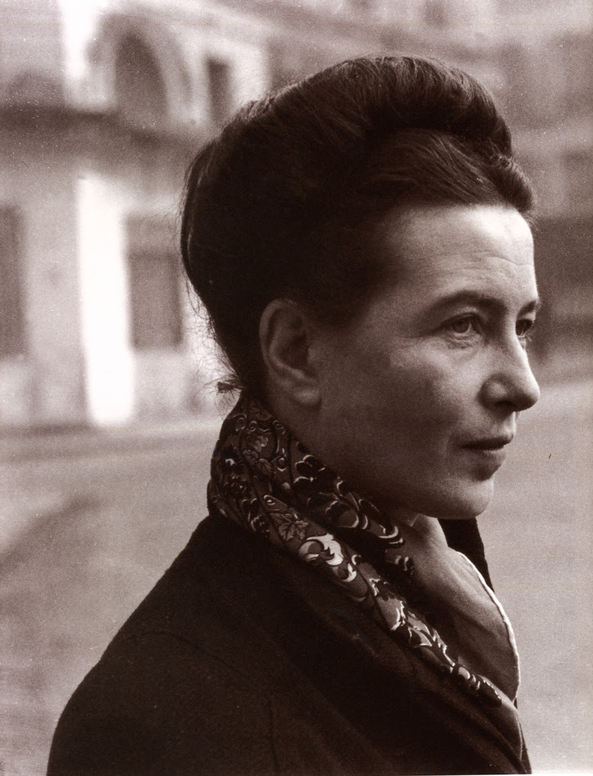 """I want everything from life. I want to be a woman and to be a man, to have many friends and to have loneliness, to work much and write good books, to travel and enjoy myself, to be selfish and to be unselfish…You see, it is difficult to get all which I want."" — Simone de Beauvoir, born on this day in 1908 (via thelifeguardlibrarian:)"