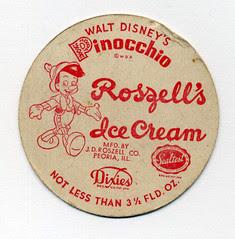 Pinocchio Ice Cream lid
