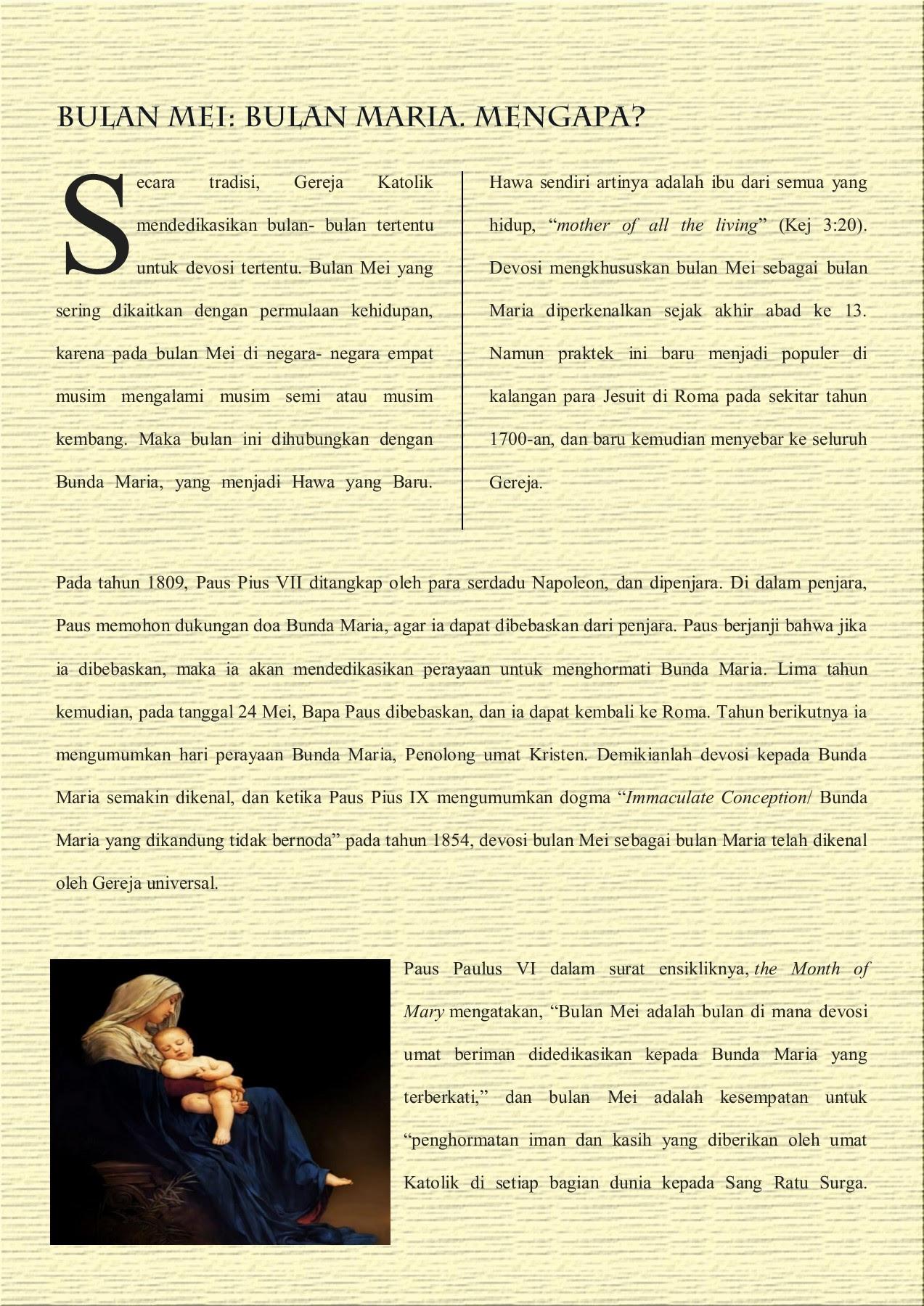 Catholic Online Maria Pintu Kerahiman Pages 1 27 Text Version