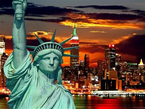 york city statue  liberty wallpaper ftm