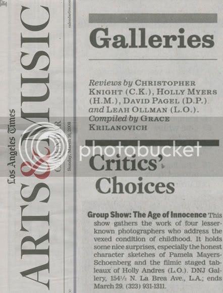 La Times Critics Choice