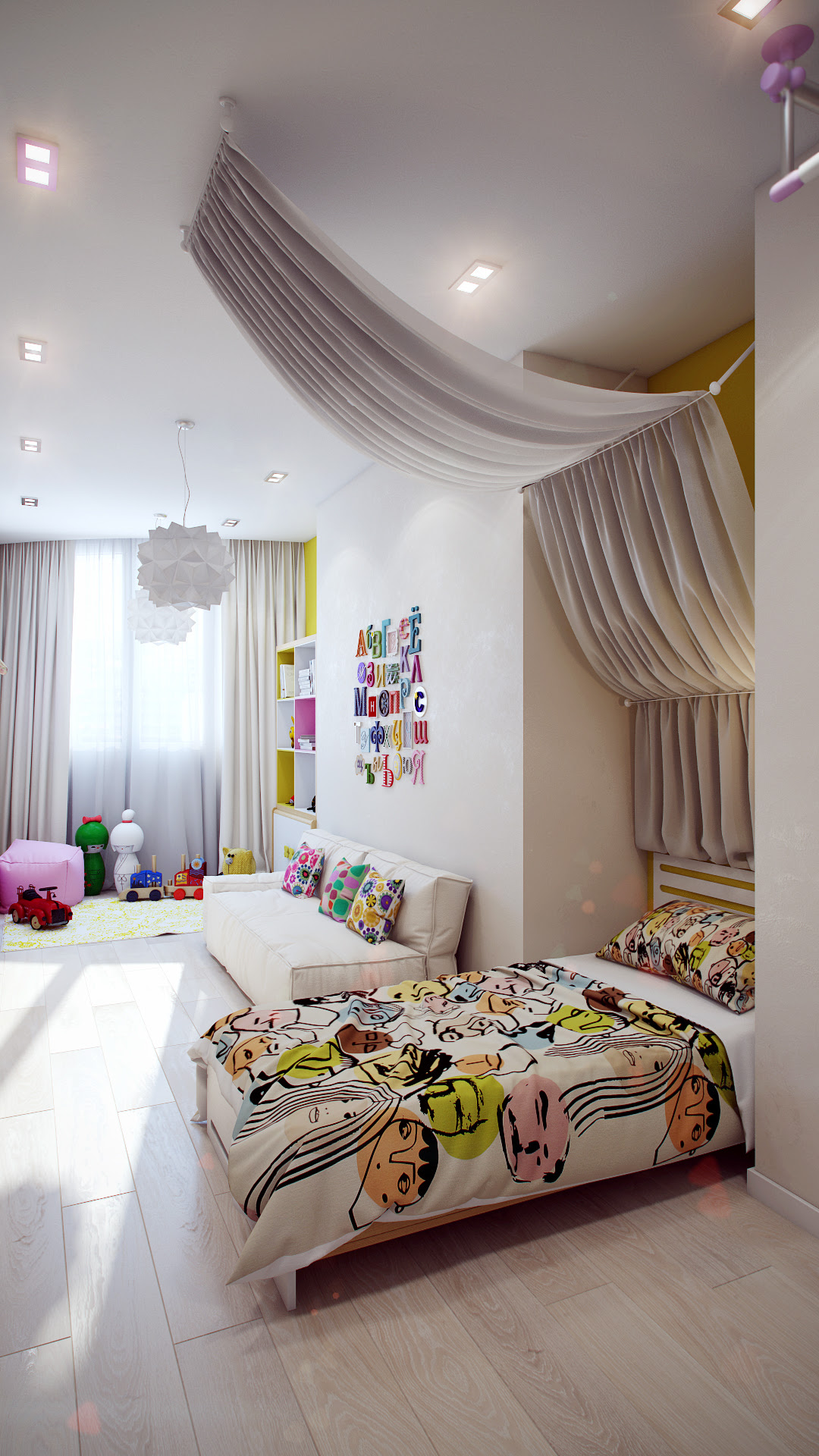 Attractive Girls Bedroom Decorating Ideas With Beautiful ...