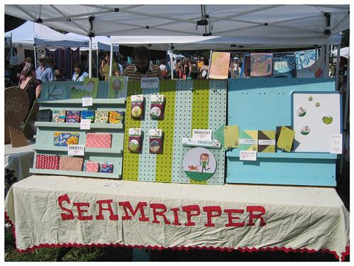 Renegade craft fair -seamripper display