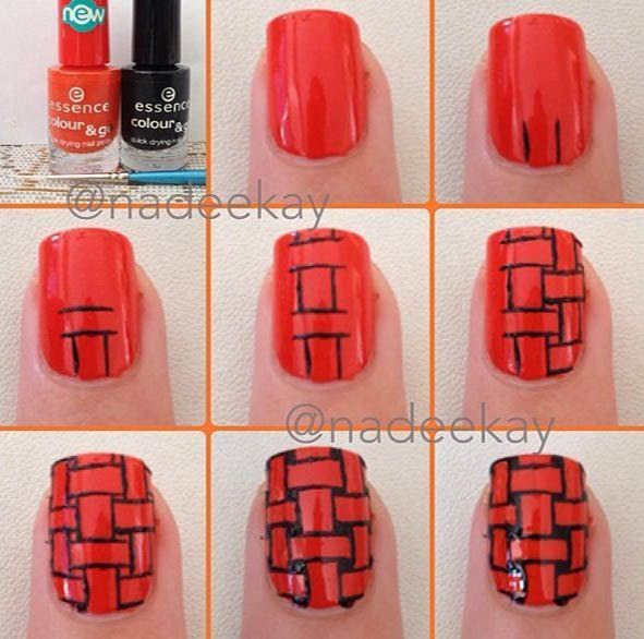 Red Nails Tutorial | Diy Nails | Nails Tutorials
