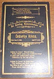 Catherine Adams died 1888