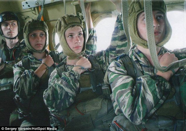 Nerves: During the clubs regular camps, some children are given the opportunity to parachute jump during their paratrooper training