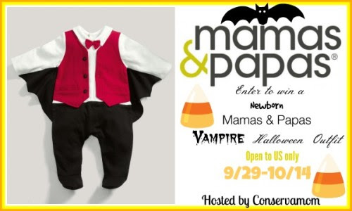 Enter the Mamas & Papas Costume Giveaway. Ends 10/14.