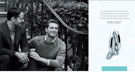 tiffany features gay couple  engagement ring ad