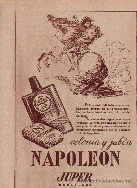 PUBLICIDAD ANTIGUA. PERFUMES. COLONIA Y JABÓN NAPOLEÓN. JUPER. 1960. (Coleccionismo - Catálogos Publicitarios)