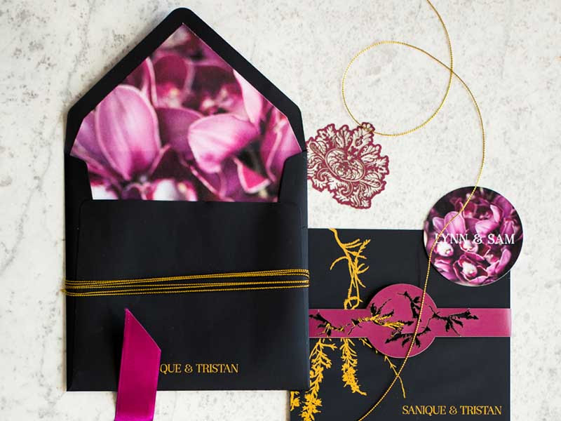 K'Mich Weddings - wedding planning - Botanical Invitation - Secret Diary