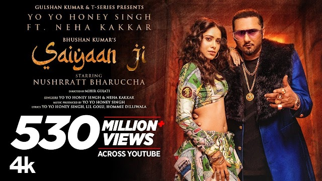 सैयां जी Saiyaan Ji Song Lyrics in Hindi - Yo Yo Honey Singh, Neha Kakkar Lyrics