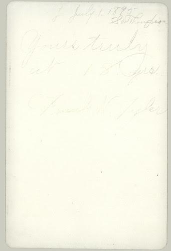 Cabinet Card portrait reverse