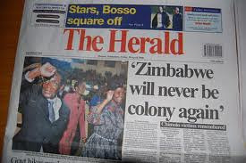 The Zimbabwe Herald is the leading state newspaper in the Southern African state. The headline reveals its anti-imperialist political character. by Pan-African News Wire File Photos