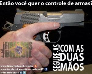 Isso é o que eu entendo por controle de armas