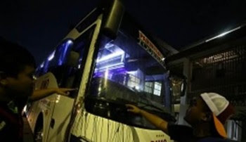 Bus Pusamania Borneo FC Dilempari Batu Sepulang Dari Stadion Maguwoharjo Sleman