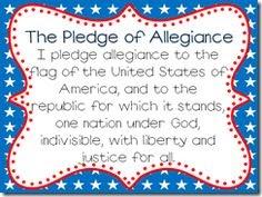 Pledge Of Allegiance Words For Kids